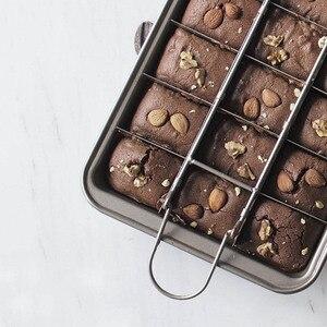 Image 5 - Профессиональная форма для выпечки шоколадных тортов, квадратная форма из углеродистой стали 18 полости, инструменты для выпечки, Легкая очистка, сковорода для выпечки коричневого пирога
