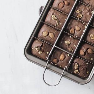 Image 5 - מקצועי בישול שוקולד עוגת עובש 18 חלל פחמן פלדת כיכר אפיית סריג קל ניקוי בראוני אפייה פאן