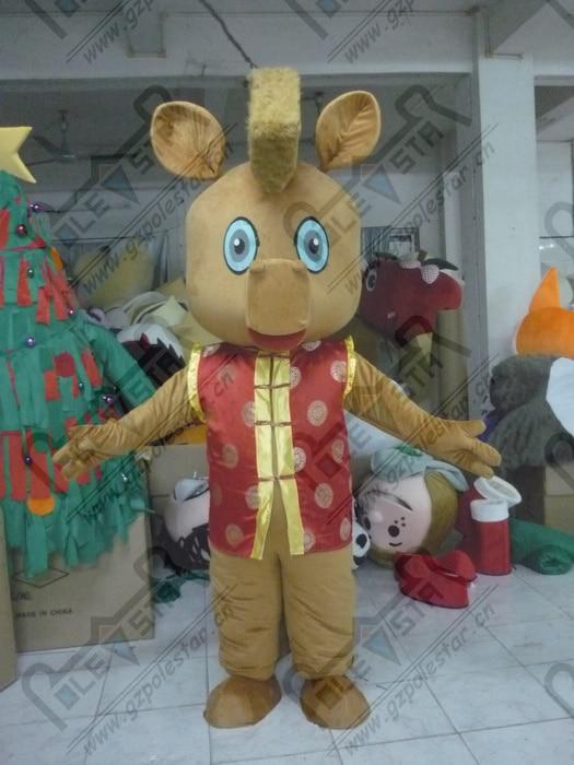 quality New Year dress reindeer mascot  costumes cartoon brown deer mascot design