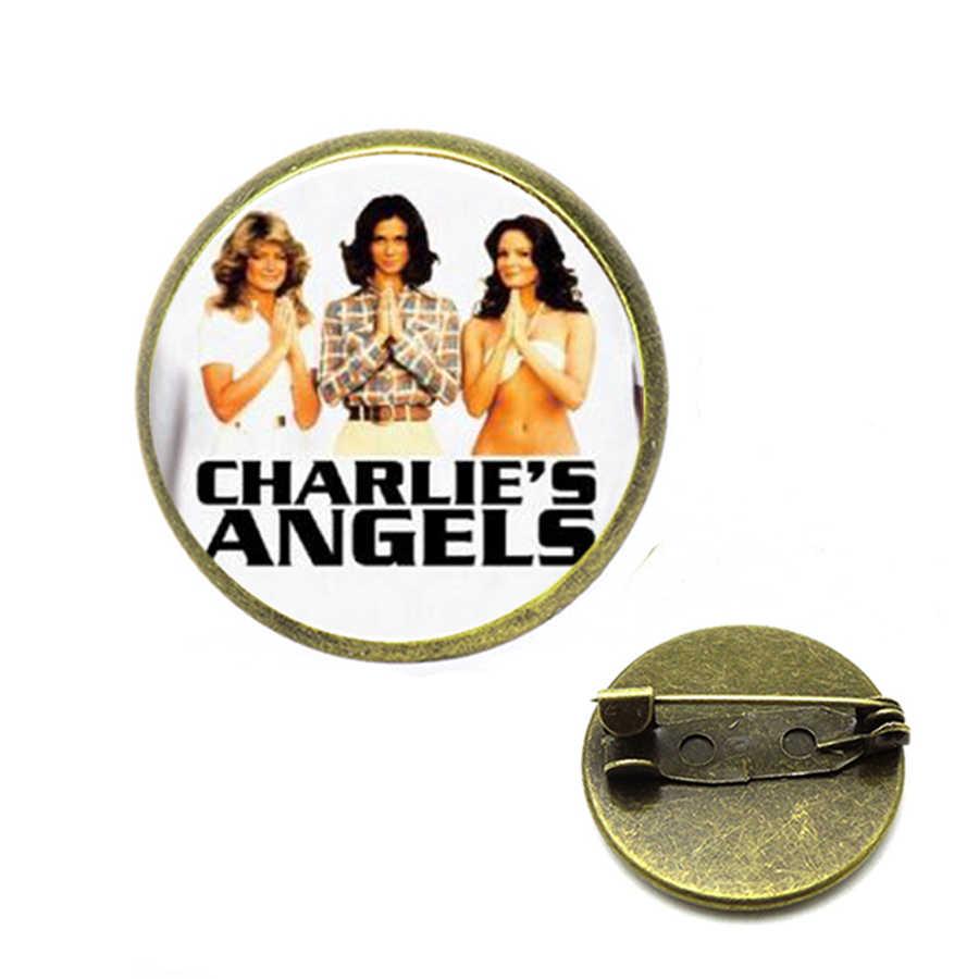 Charlie Malaikat Bros Acara TV Cast Aku Percaya Malaikat Bros Wanita Pria Perhiasan Hadiah Natal Jilbab Pin
