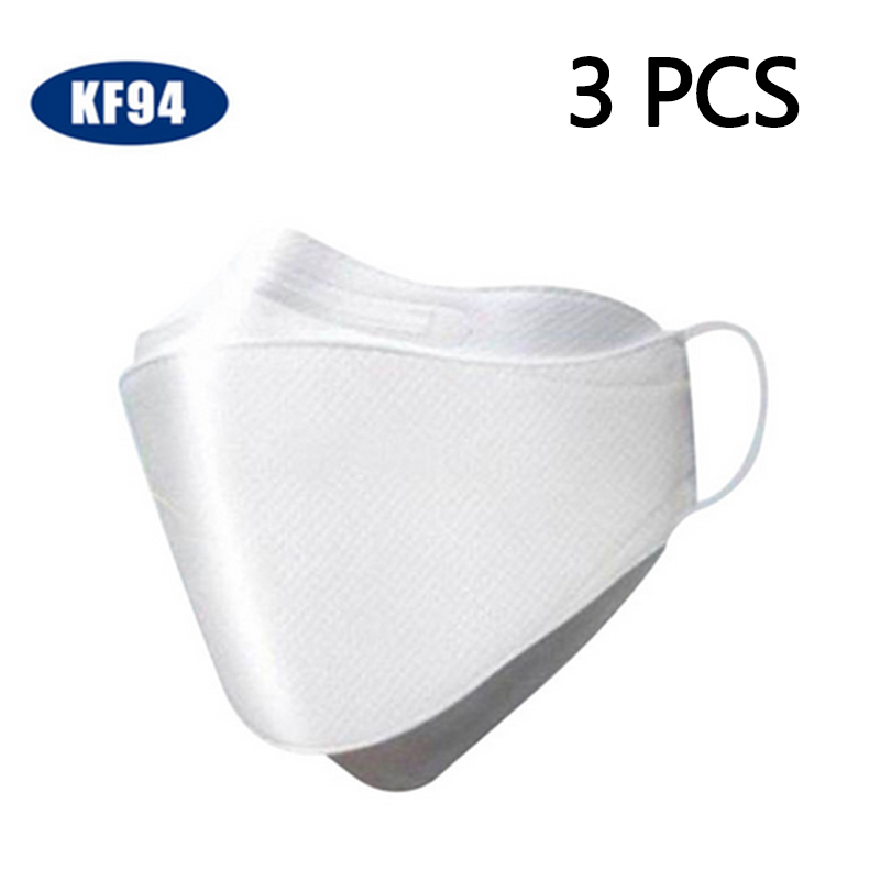 KF94 Dust Mask Fine Dust Mask Pm2.5 Mask Infectious Disease Protection 3PCS/Pack Earloop KN95 N95 In Stock Send Within 24hours