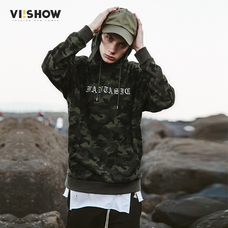 VIISHOW Hoodies Men Sweatshirt Men Sportwear Pullovers Camouflage Casual Hip hop Sweatshirt Letter Printed Sweatshirt Men