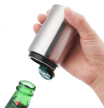 1pc Kitchen Stainless Steel Bottle Opener Beer Automatic Magnetic Openers Bar Wine Tool