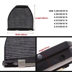 Image 5 - Салонный фильтр + воздушный фильтр, 2 шт., для Mercedes C CLASS W204 S204 2007 2014 C180CGI C250CGI C204 2011 2019 C180 C250, модель Fiilter Set