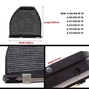 Image 5 - Cabin Filter+Air Filter 2 Pcs For Mercedes E CLASS W212 S212 2009 2019/A207 C207 2010 2019 Model Built and External Fiilter Set
