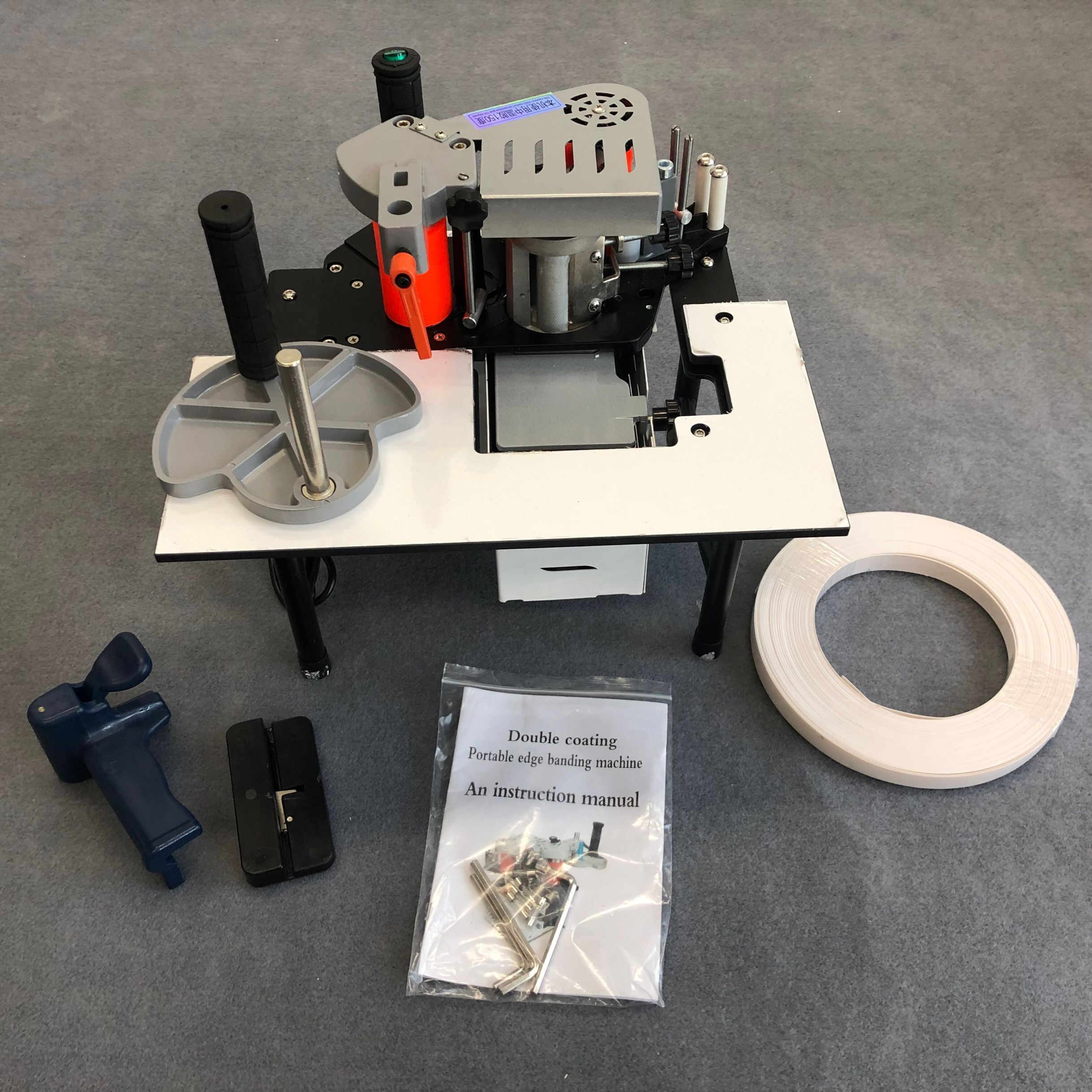 Woodworking Banding Machine Double Side Gluing Portable Edge Bander Woodworking Edge Banding Machine 220V 1200W
