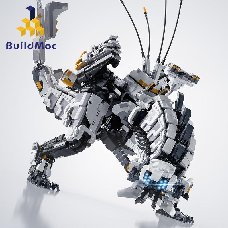 Buildmoc DIY MOC Super Horizon Dawn Thunder Tooth механические серии монстров строительные блоки игрушки для детей Подарки