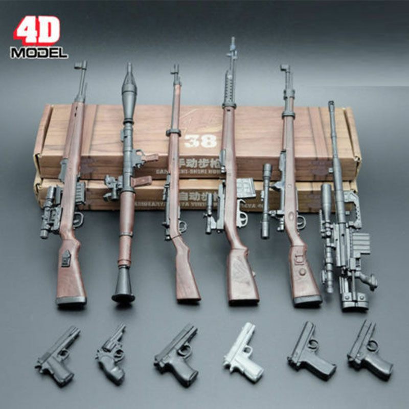 "1//6 Scale 8pcs 4D Assembly AssaultRifle Weapon Gun Model Toy Fit 12/"" Figure Toys"