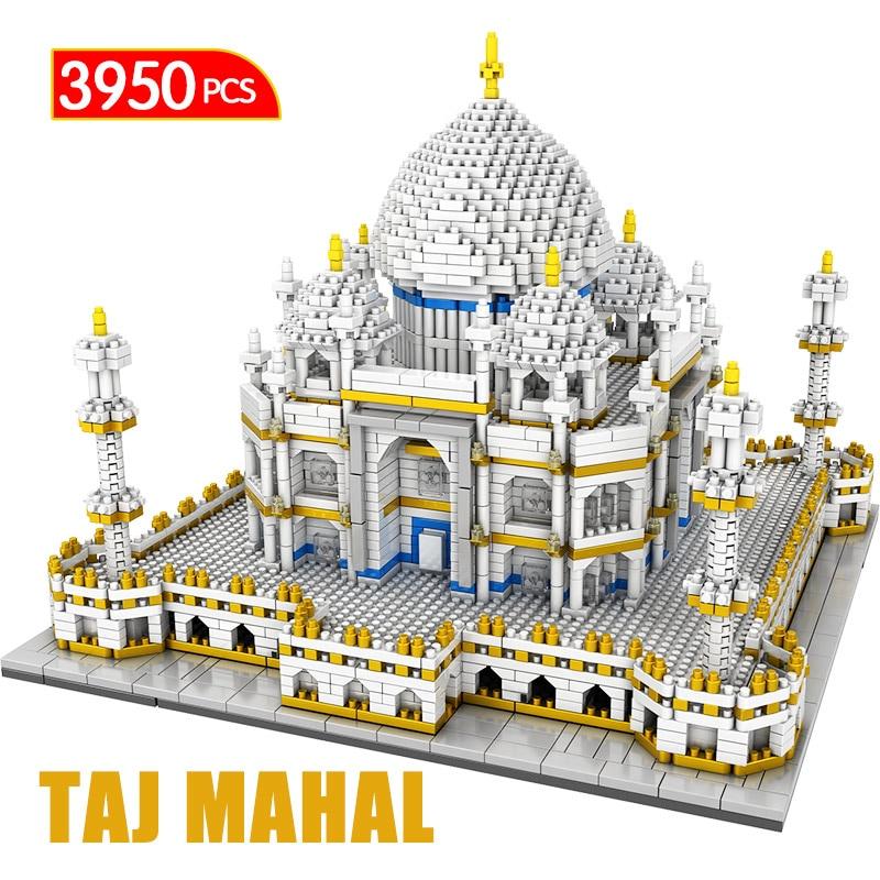 3950 Pcs Mini Blocks World Famous Architecture Taj Mahal 3D Model Building Blocks Diamond Bricks Educational Toys for Kids