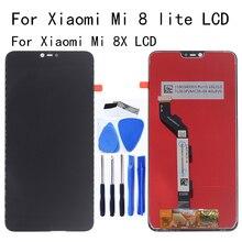 LCD ต้นฉบับสำหรับ Xiao Mi Mi 8 Lite จอแสดงผล LCD Touch Screen Digitizer เปลี่ยนสำหรับ Mi 8X Mi 8 Lite แผงชุดซ่อม