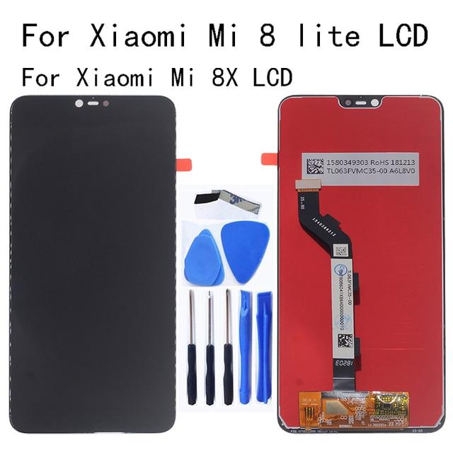 מקורי LCD עבור שיאו mi mi 8 לייט LCD תצוגת מסך מגע digitizer תחליף mi 8X mi 8 לייט זכוכית פנל ערכת תיקון