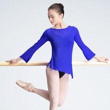 Женский балетный купальник для девочек и взрослых, 3/4, длинный рукав, гимнастический купальник, черный, лояльность, синий, светло-зеленый, s, m, l, xl