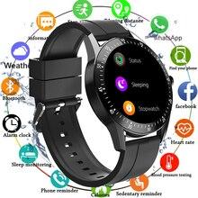 Inteligentny zegarek dla mężczyzn 2020 wodoodporna pomiar ciśnienia krwi Smartwatch kobiety inteligentny zegar zegarki sportowe dla Android IOS