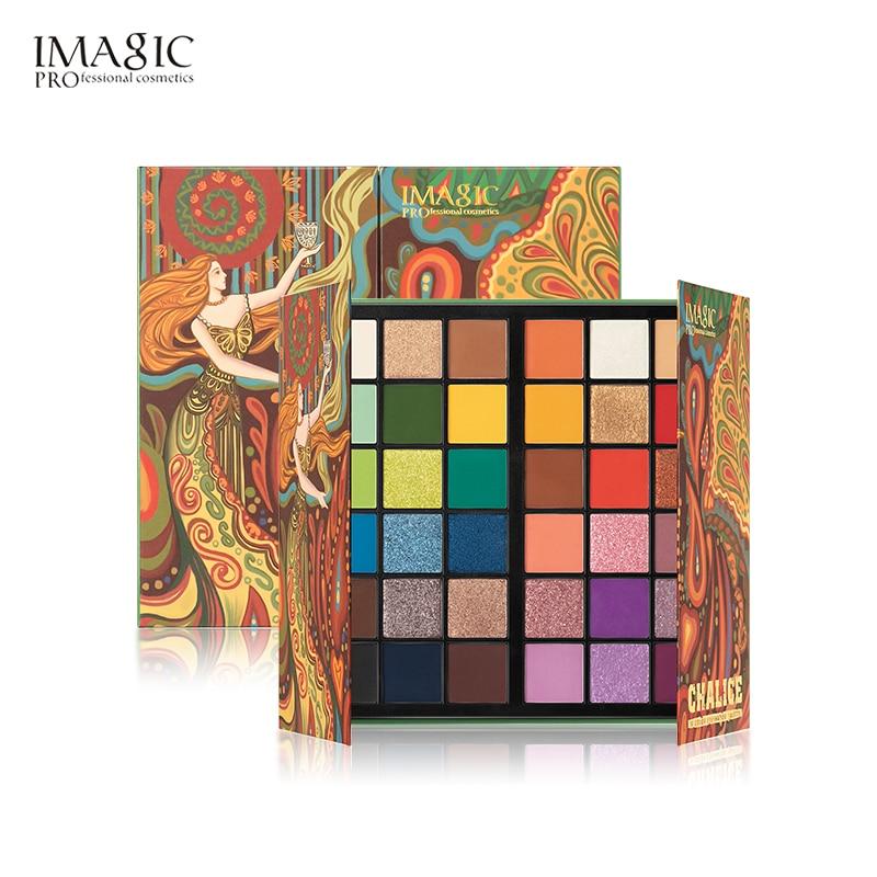 IMAGIC Tarot Card Holy Grail 36 цветов Тени для век Палитра матовое стекло с перламутровым эффектом поляризованный макияж тени для век Палитра
