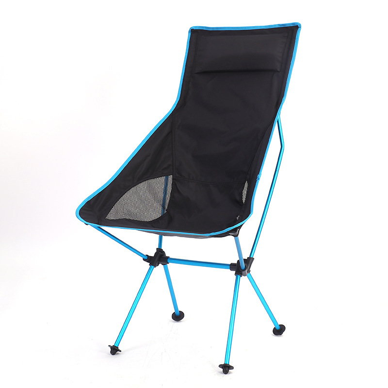 Folding Outdoor Aluminum Alloy Belt Backrest Lounge Chair Lengthen Moon Chair Portable Fishing Chair Outing Picnic Loungers