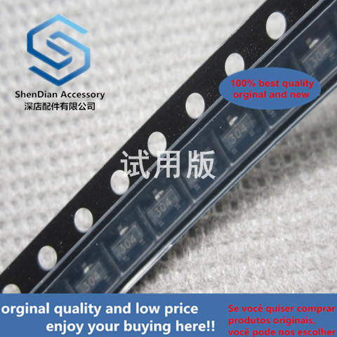 100pcs 100% Orginal New FDN304N FDV304P Silk Screen 304 SMD SOT-23 MOS Field Effect Transistor P-channel Transistor