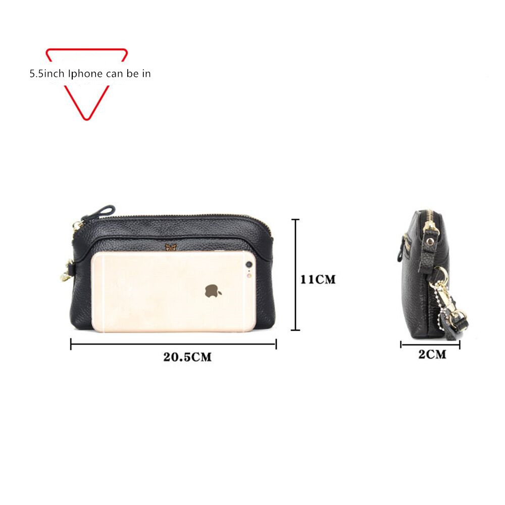 Vento Marea Genuine Leather Wallet High Quality Fashion Women Large Capacity Zipper Walets Female Purse Long Ladies Clutch Bag in Wallets from Luggage Bags