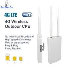 KuWFi 4G Wifi Router Outdoor Waterproof 4G SIM Wifi Router Wireless CPE Unlocked FDD/TDD CAT4 150Mbps for IP Camera