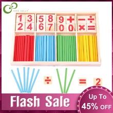 Монтессори игрушки математические Развивающие деревянные игрушки для детей головоломка для раннего обучения детей количество Счетные палочки обучающие средства GYH