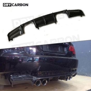 Carbon Fiber / FRP Rear Lip Diffuser for BMW E92 Coupe E93 Cabriolet M3 2009 - 2012 Back Bumper Trim Cover image