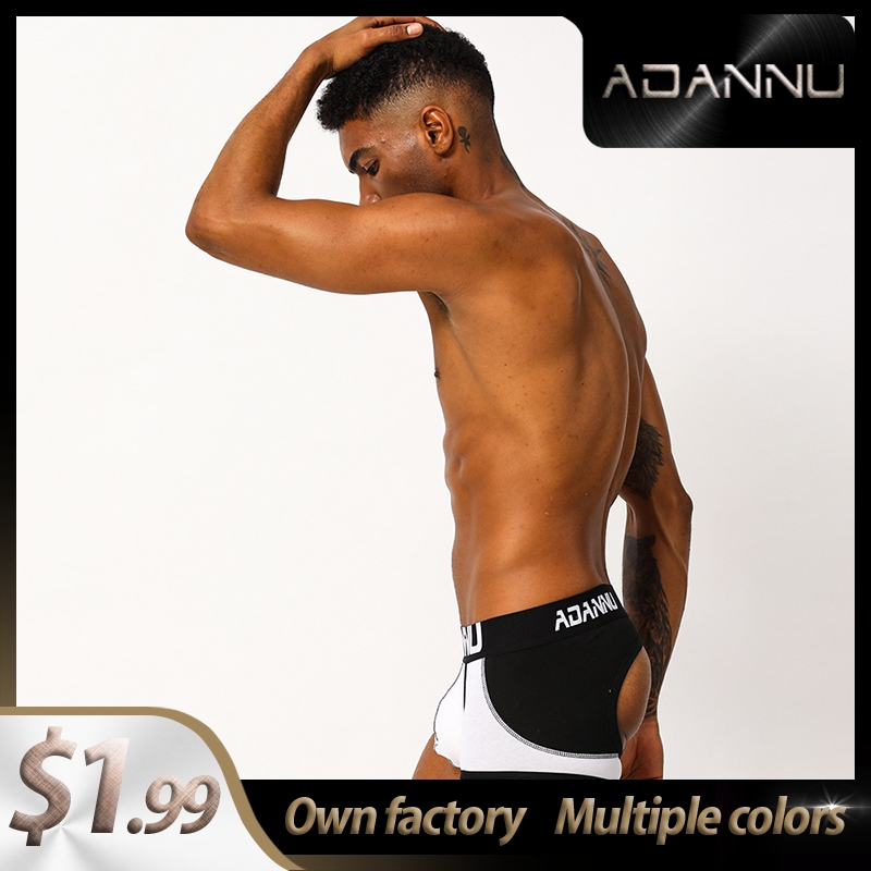 Fashion Spandex Comfortable Gay Men Sexy Underwear Thong Men Jockstrap LOGO Mens Underpants Mens Thongs And G Strings U Pouch