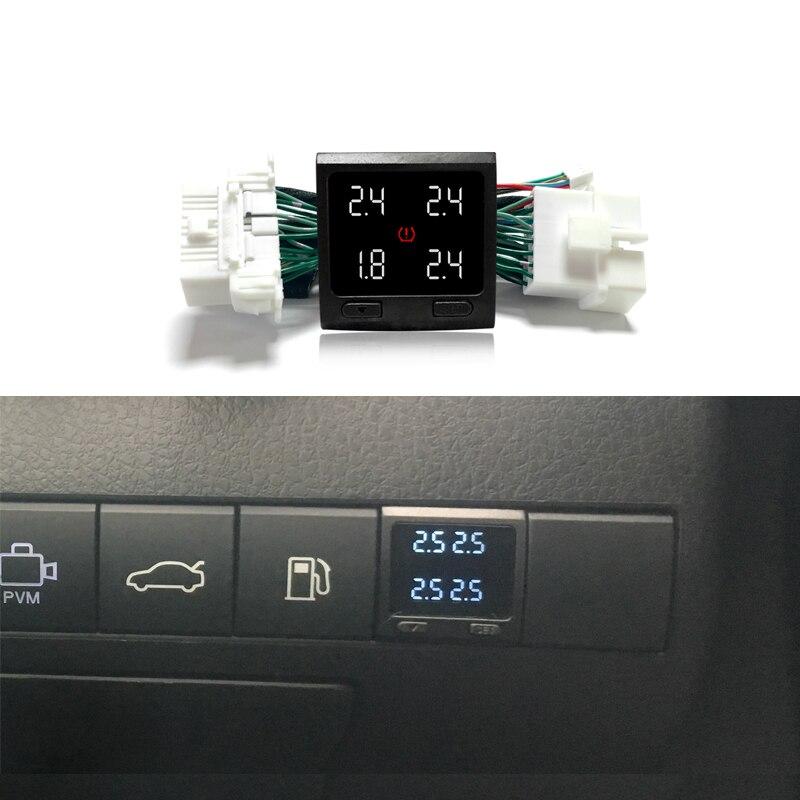 עבור טויוטה קאמרי 2018 דיגיטלי צמיג לחץ ניטור מערכת בזמן אמת צג צמיג בטוח יחידה TPMS להתחבר OBD אין חיישן