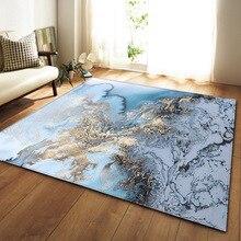 2020 Nordic 3D Marble Pattern Carpets Soft Flannel Rugs Parlor Tea Table Anti-slip Bedroom Bedside Mat Living Room Large Carpet