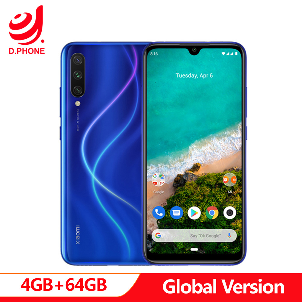 "Original Android One Global Version Xiaomi MI A3 4GB 64GB Octa Core 6.088"" 48MP + 32MP Camera 4030mAh Smartphone"