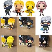 Nova pop naruto sasuke kurama itachi kakashi sakura em estoque com caixa figura brinquedos coleção modelo de brinquedo para crianças