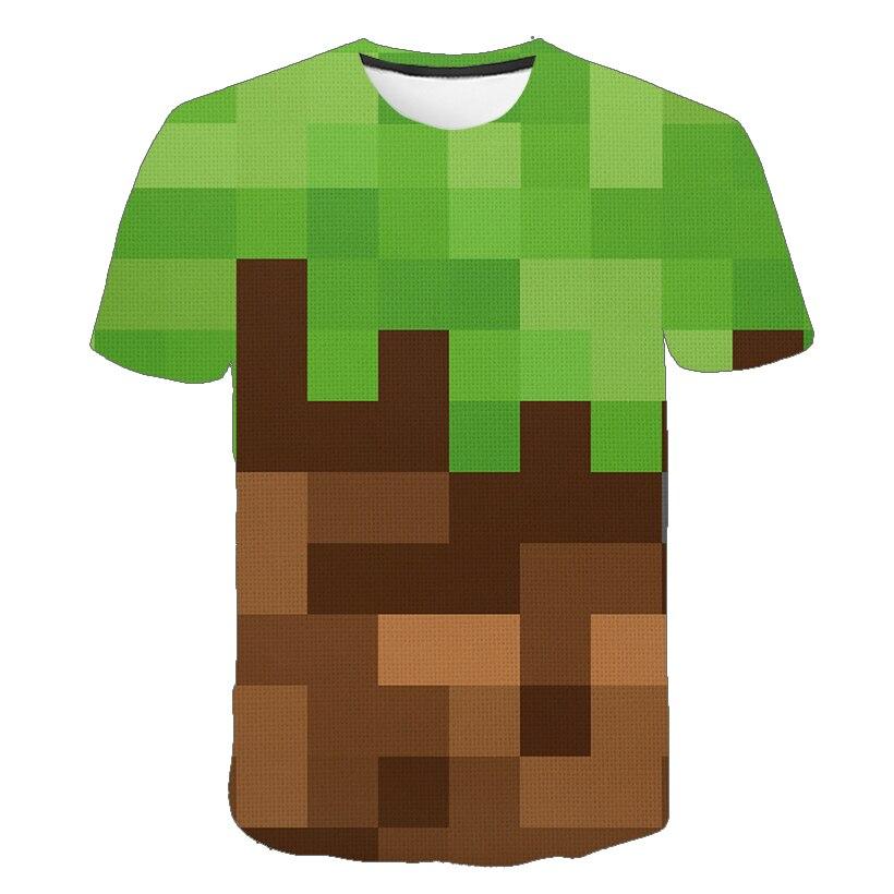 Новинка, летний комплект Kawaii Robloxing игра 3D с принтом футболка с короткими рукавами, с мультипликационным принтом, футболка для мальчика, Летняя Повседневная Топ От 4 до 14 лет