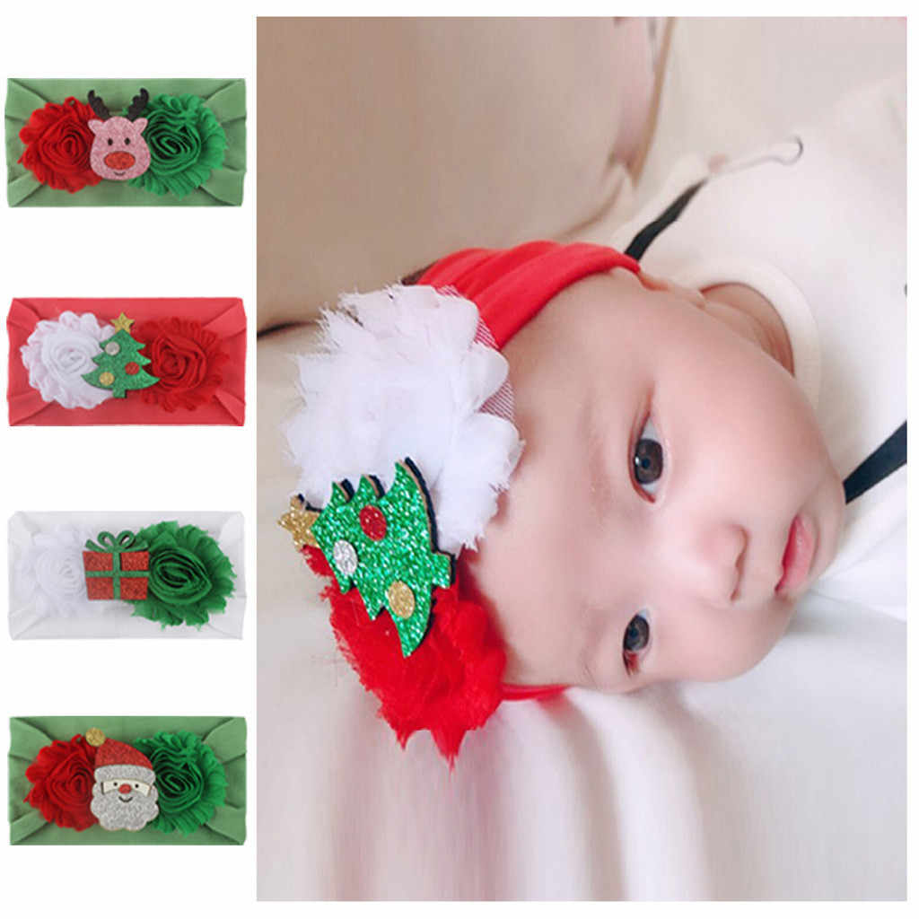 Toddler Kid Baby Headband Girls Cartoon Christmas Headband Headwear Baby Hair Accessories Opaska Dla Dziewczynki Шапка Детская