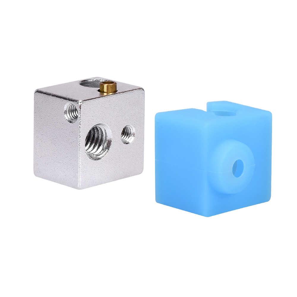 Bloque calentador E3D V5, calcetín de silicona V5 para impresora 3D Original Anycubic I3 Mega/Chiron V5 Hotend, extrusor, piezas de impresora V5, bloque de aluminio