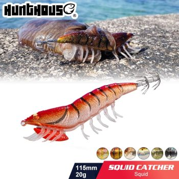 lure hunthouse fishing Lure Squid jig shrimp lure  jigging lure  Fake Lure  Artificial Bait  River for fishing