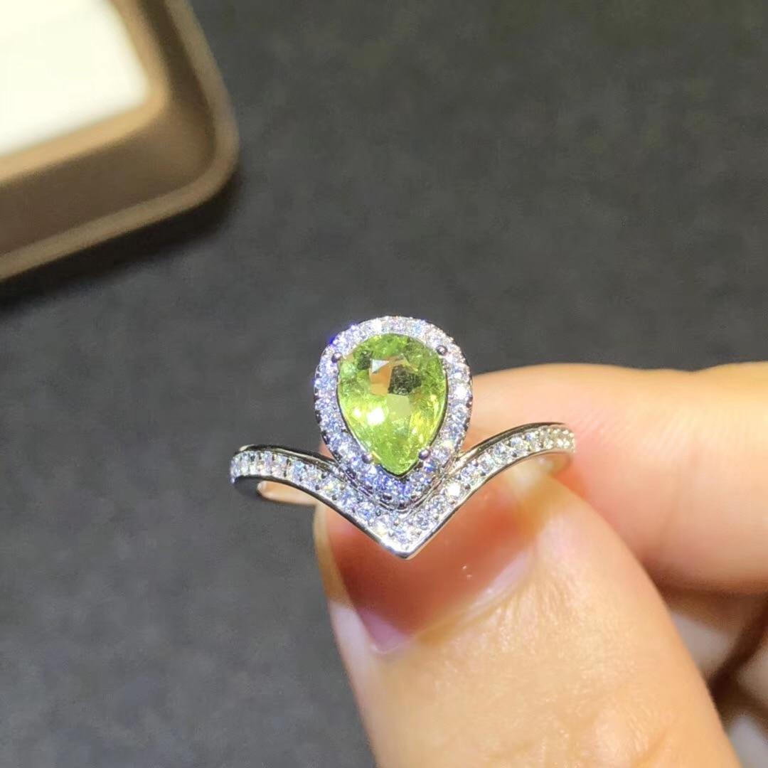 BOEYCJR S925 argent tourmaline à la mode bijoux fins réglable élégant pierres précieuses anneaux pour les femmes cadeau de fiançailles anneau anillo