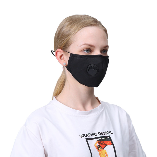 1 PCS Mouth Mask Rewashable reusable Mask with 10 PCS PM2.5  activated carbon filter Respirator for man and women adult 1