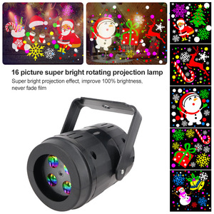 Christmas Halloween Projector Lamp Christmas LED Stage Lights DJ Stage Lamp Christmas Decoration for Home Family Party Lights