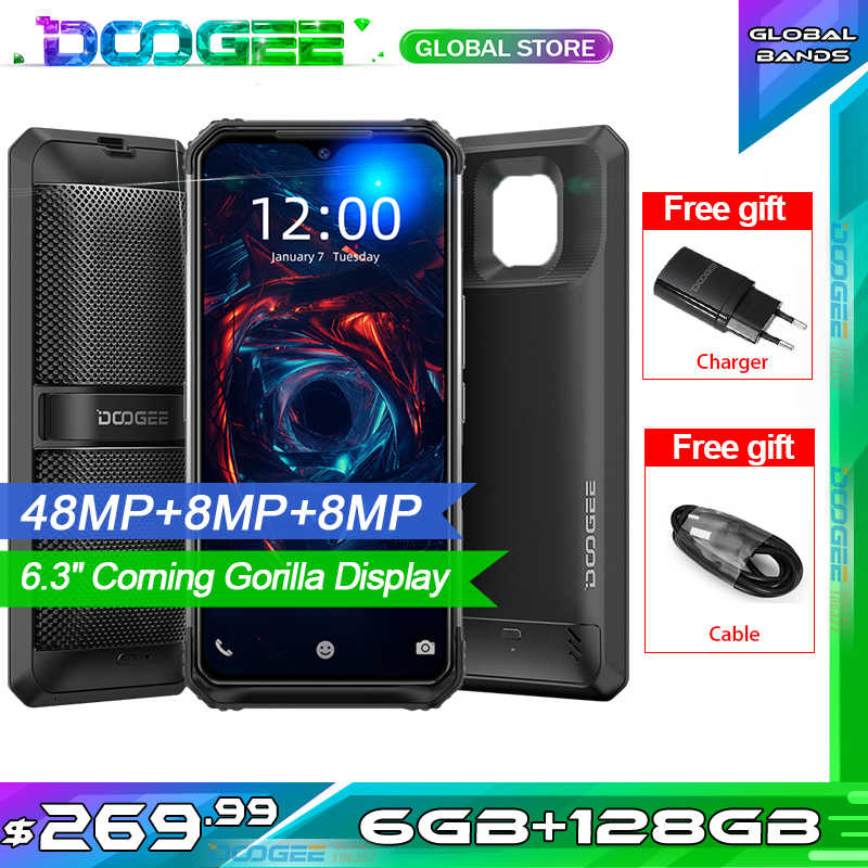"DOOGEE S95 téléphone portable robuste modulaire IP68 Smartphone 6.3 ""Helio P90 Octa Core 6GB 128GB 48MP Triple caméra Android 9.0 5150mAh"