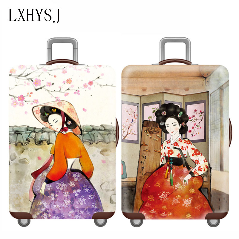 Elastic Trolley Luggage Cover Travel Suitcase Case Suitcase Protective Covers For 18-32 Inch Suitcase Cases Travel Accessories