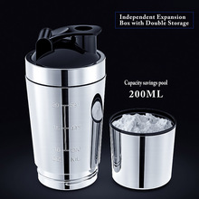 Stainless Steel Cup Vacuum Mixer Outdoor Drink 26OZ Kettle Detachable Whey Protein Powder Outdoor portable Sports Shake Bottle stainless steel cup vacuum mixer outdoor drink 26oz kettle detachable whey protein powder outdoor portable sports shake bottle