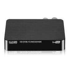 Nueva TV Box HD 1080P DVB T SINTONIZADOR DE DVB T2 receptor decodificador de satélite sintonizador de TV DVB T2 USB2.0 para Europa Rusia República Checa