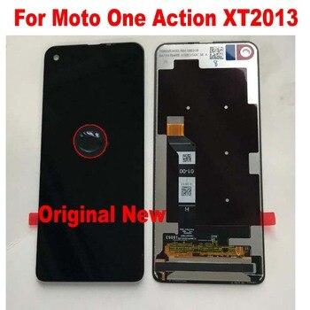 Перейти на Алиэкспресс и купить 100% Оригинальный протестированный стеклянный датчик для Motorola Moto One Action XT2013 P50 6,3 дюймЖК-дисплей, сенсорная панель, экран, дигитайзер, сборка