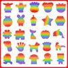 Hot Fidget Reliver Stress Toy Rainbow Push Bubble Antistress Toys Adults & Children Sensory Toys To Relieve Autism Pop It