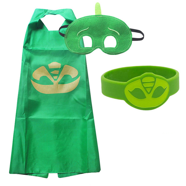 PJ Masks Children Mask Cloak Cosplay Half Face Mask Funny Halloween Party Decor Mask Superhero Anime Figure Masks Toy Kids Gift 3