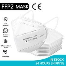 5-100 peça ffp2 máscaras kn95 mascarillas faciais adultos 5 camadas filtro máscara facial máscara de filtração boca máscara protetora respirador