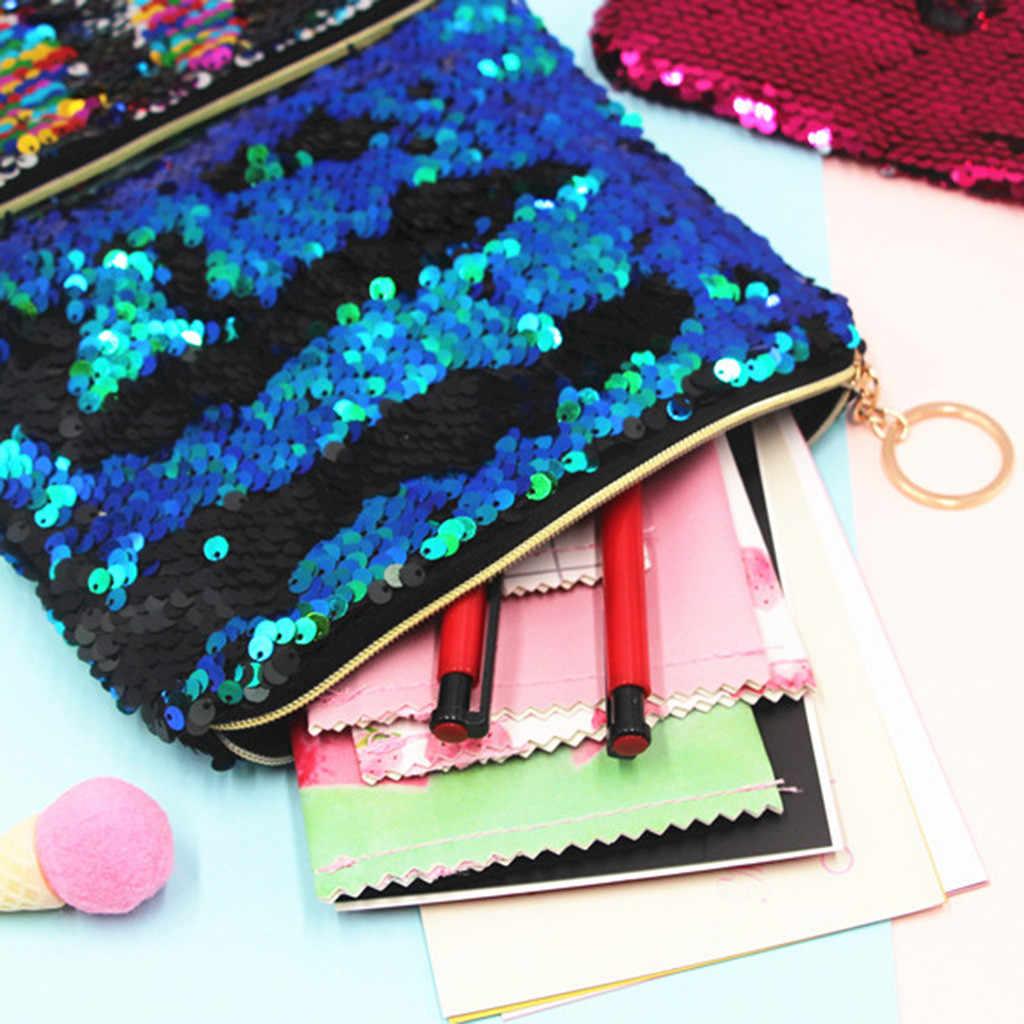 Модная женская сумка с блестками для девочек, клатч, сумка для косметики макияжа, кошелек, Изысканный кошелек с блестками для путешествий, сумка для макияжа # R15