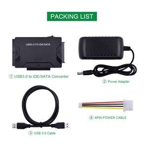 Image 5 - Адаптер CHIPAL 3 в 1 с SATA на USB IDE, USB 3,0 на SATA IDE ATA, преобразователь данных для ПК, 2,5 дюйма, 3,5 дюйма, SSD HDD + кабель питания