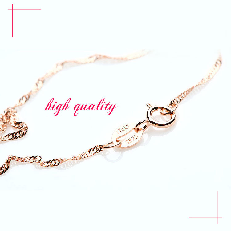Real 925 Sterling Silver Necklaces Slim Thin Snake Chains Necklace Women Body Box Chain For Woman
