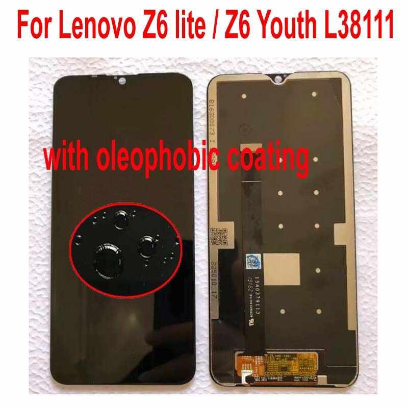 """Ban Đầu Tốt Nhất 6.3 """"LCD Pantalla Cho Lenovo Z6 Lite / K10 Note L38111 Màn Hình Bộ Số Hóa Cảm Ứng Cảm Biến + Khung"""