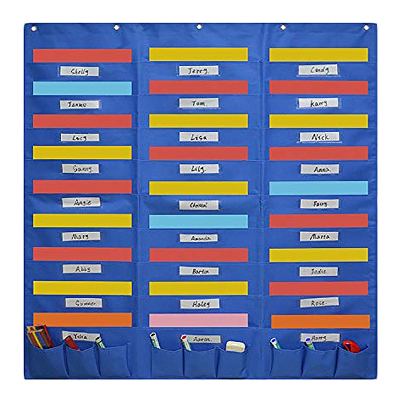 Organization Center Pocket Chart, Wall File Organizer Folder For Office, Home, School, Studio
