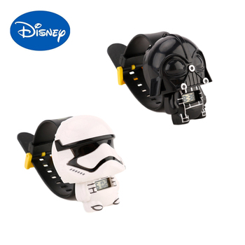 Disney watch movies star wars watches stormtrooper Darth Vader action figure Toys for Children collection dolls birthday gifts 26cm star wars darth vader stormtrooper action figure toys the force awakens anime movies figures lightsaber gift with box